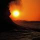 2006年優秀賞 【夕陽の波涛】 榎本隆一さん 撮影地:新潟市西区(関屋分水)