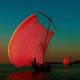 2014年優秀賞 【落陽に染まる帆】 三浦二郎さん 撮影地:茨城県霞ヶ浦