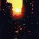 1990年大賞 【ビルの峡谷の夕日】 貝津吉之助さん 撮影地:新潟県新潟市