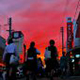 2018年奨励賞 【夕焼の街】 三浦二郎さん 撮影地:新潟県加茂市