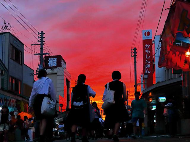 2018年奨励賞 【夕焼の街】三浦二郎さん 撮影地:新潟県加茂市